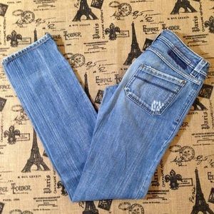 Diesel Straight Leg Distressed Jeans Size 27